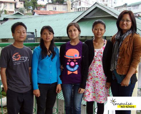 Volunteers at Impulse NGO Network