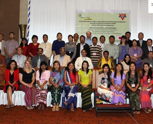 Participants at the Indo Myanmar Regional Consultation on Trafficking in Persons