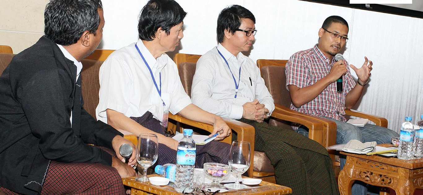 U Sein Win Journalist Deputy Manager Lotus Group, U Myint Kyaw Secretary Myanmar Journalist Network. Myo Min Htike Chief Editor Venus News Zayar Hlaing Editor, Myanmar. Chronicle in the Regional Consultation on Trafficking in Persons. Scaling of Impulse Case Info Centre held in Yangon Myanmar on the 2nd June 2014.