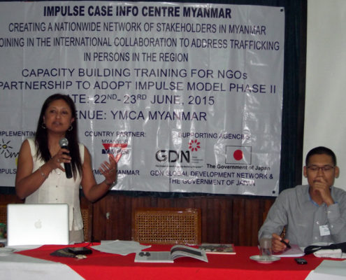 Hasina Kharbhih - Chair of Board, Impulse NGO Network. U Zayar Hlaing - Editor Myanmar Chronicle (Myanmar Observer Group).